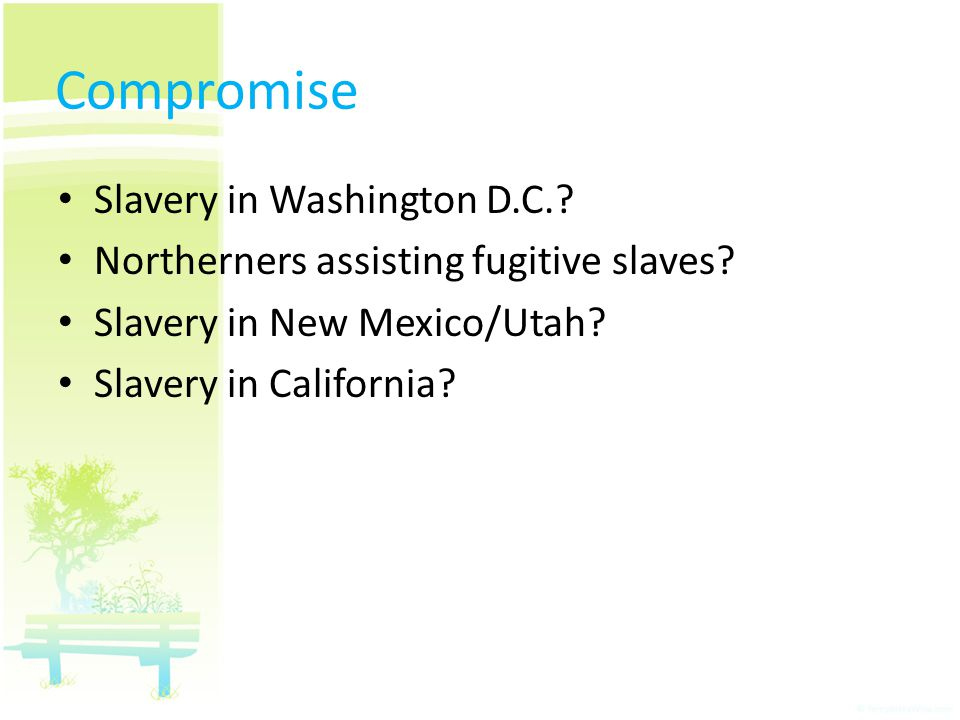 Compromise Slavery in Washington D.C.