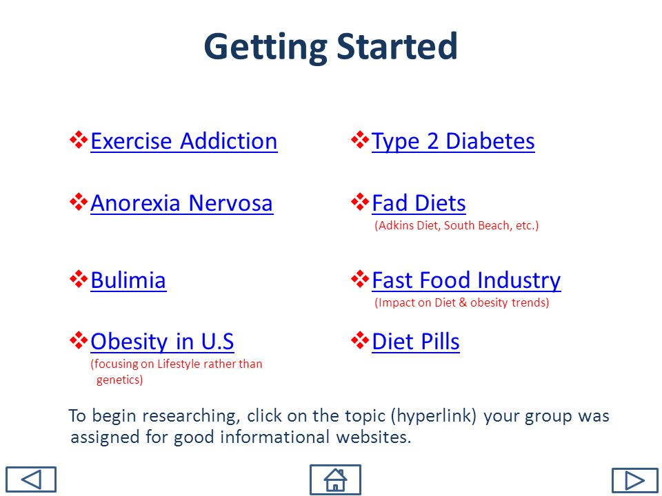 Getting Started Exercise Addiction Anorexia Nervosa Bulimia