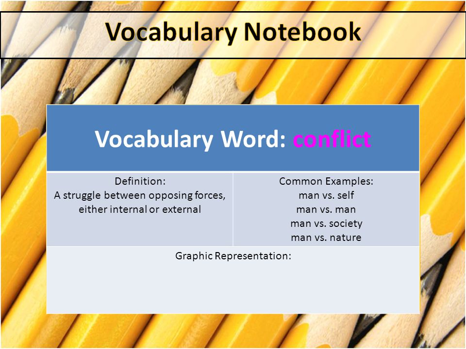 Vocabulary Word: conflict