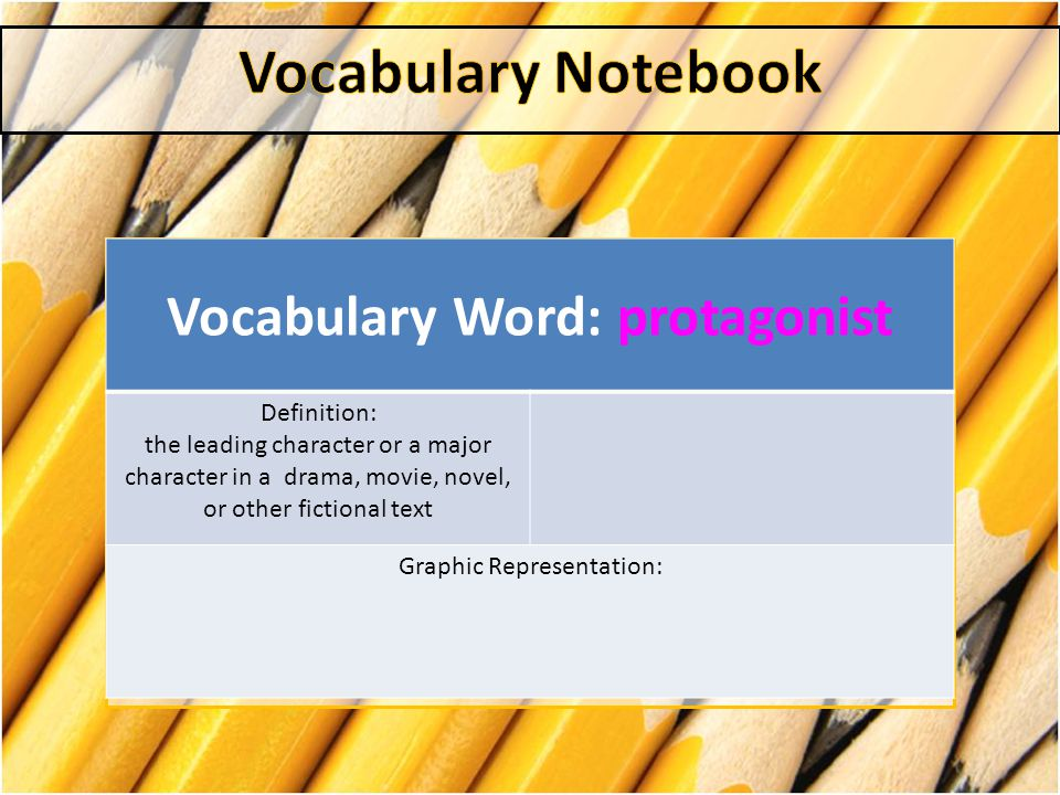 Vocabulary Word: protagonist
