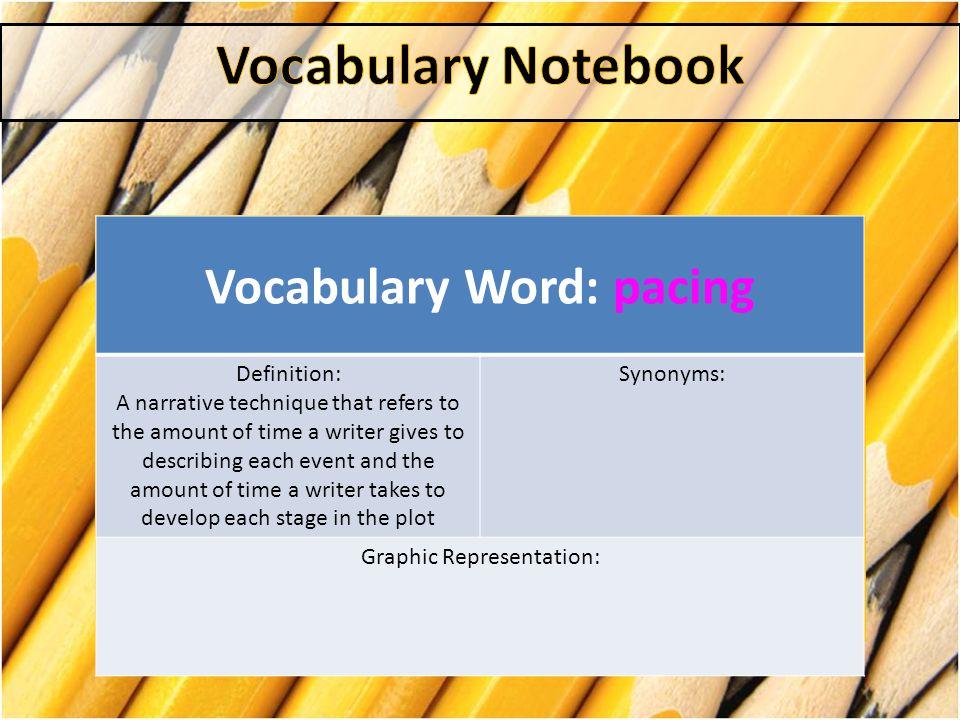 Vocabulary Word: pacing
