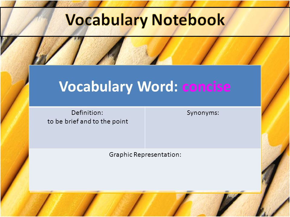 Vocabulary Word: concise