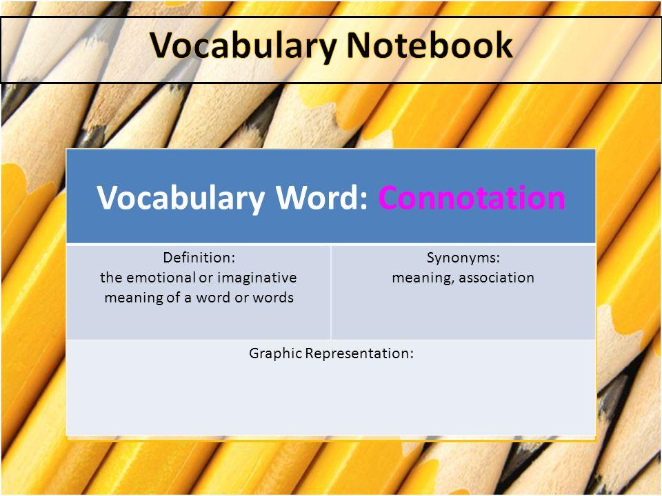 Vocabulary Word: Connotation