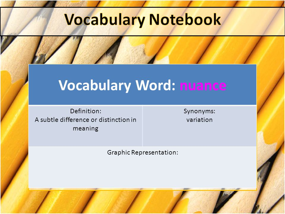 Vocabulary Word: nuance