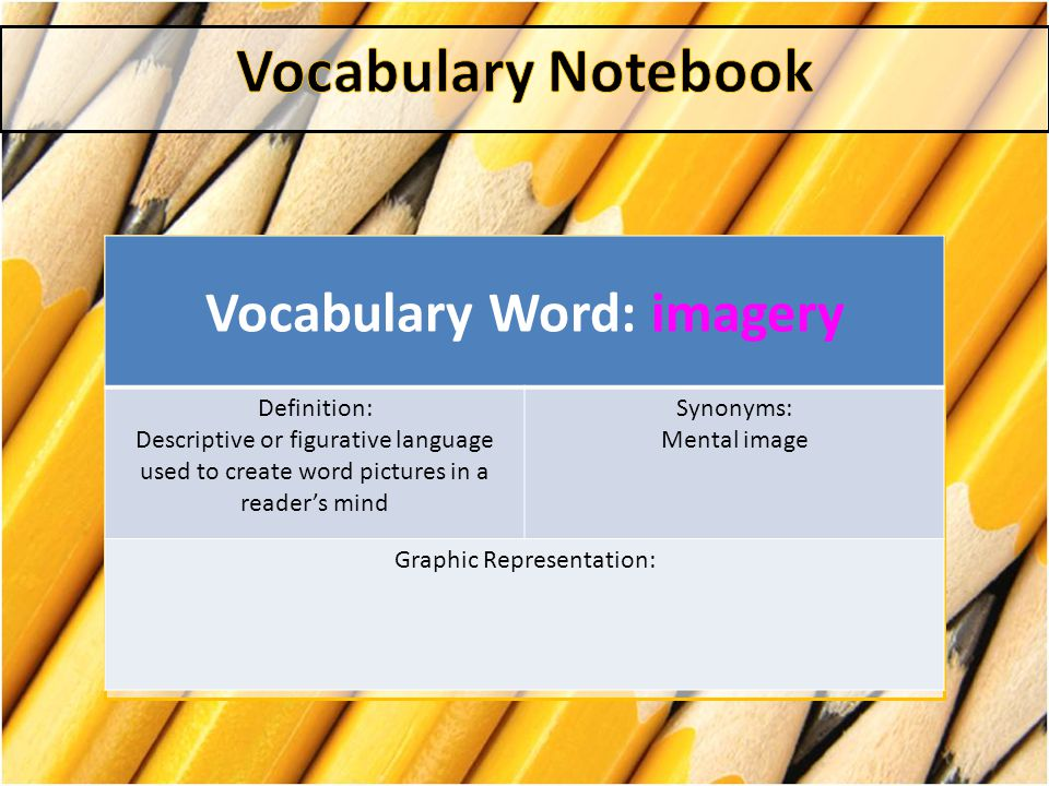 Vocabulary Word: imagery