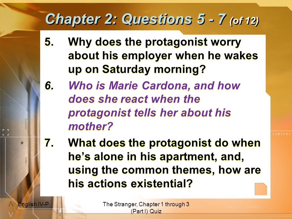 Chapter 2: Questions 5 - 7 (of 12)