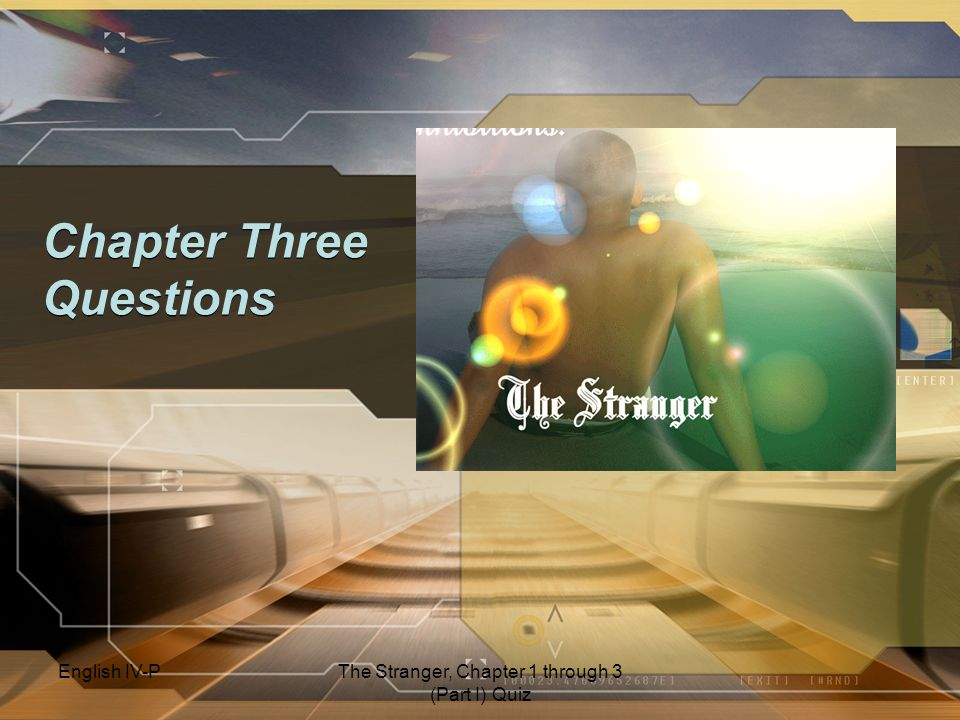 Chapter Three Questions