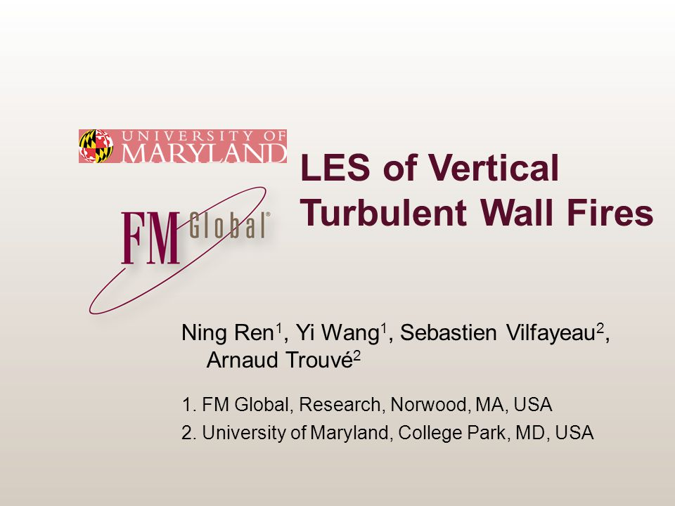 LES of Vertical Turbulent Wall Fires