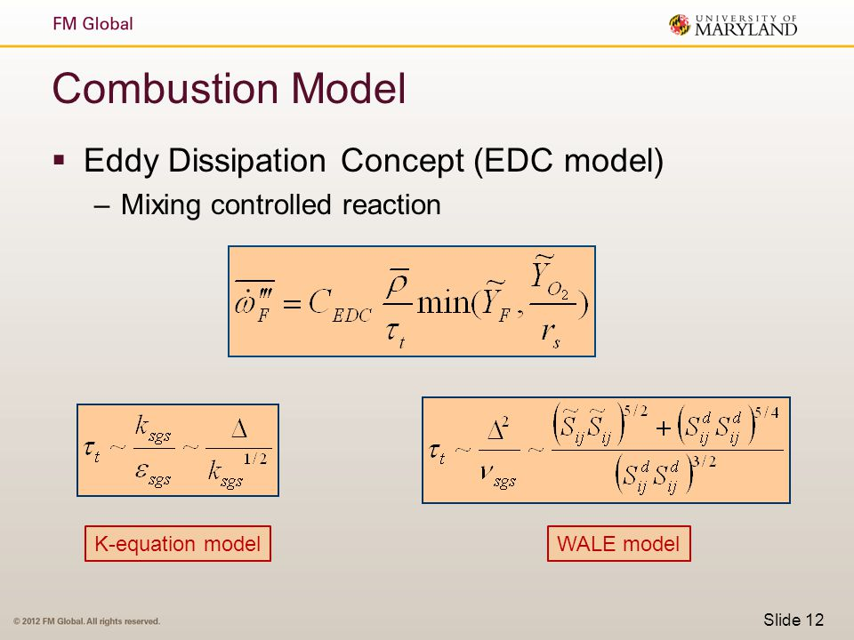 Combustion Model Eddy Dissipation Concept (EDC model)