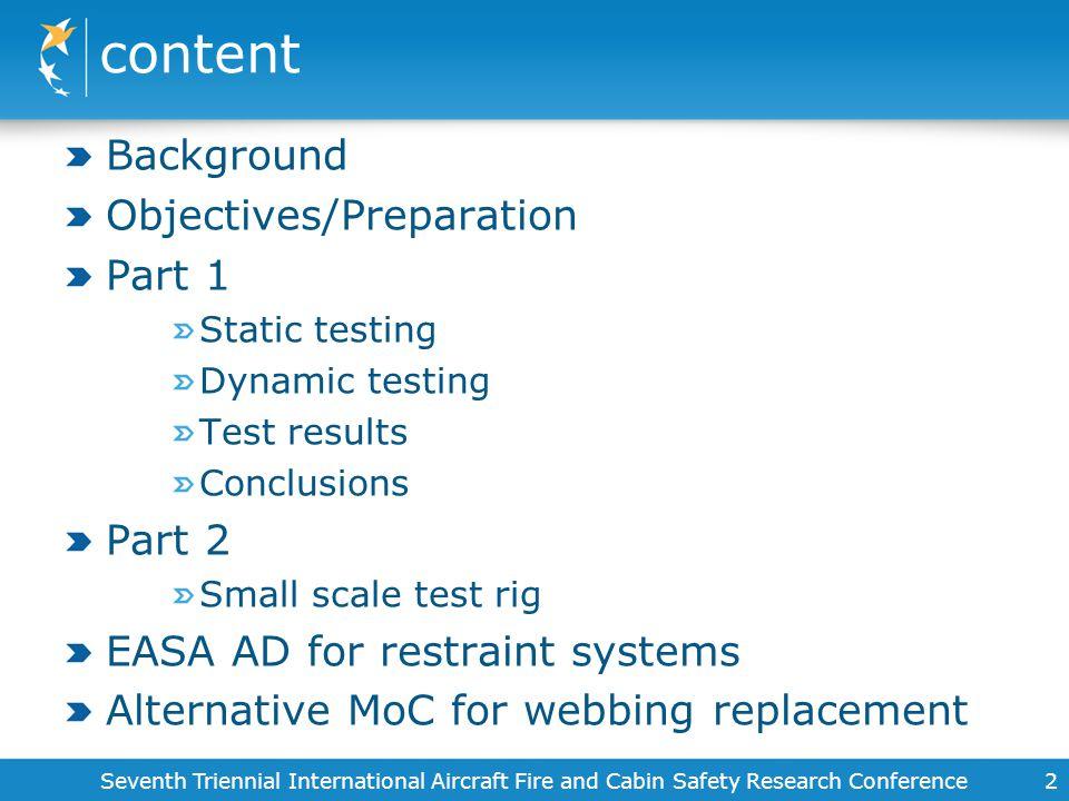 content Background Objectives/Preparation Part 1 Part 2
