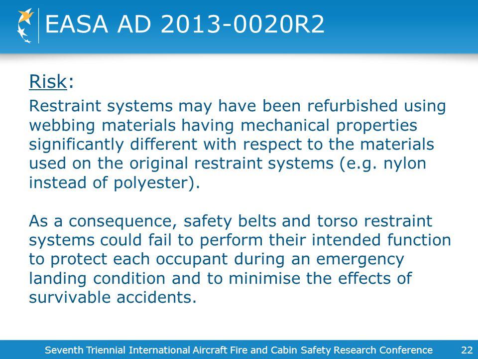 EASA AD 2013-0020R2 Risk: