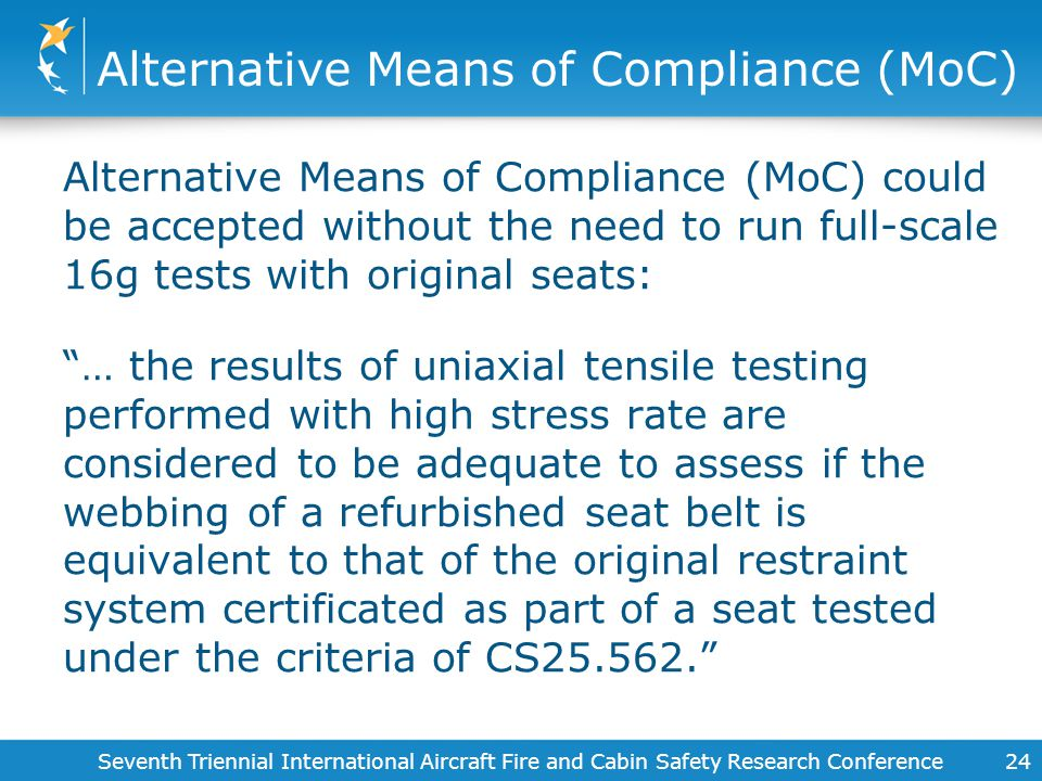 Alternative Means of Compliance (MoC)