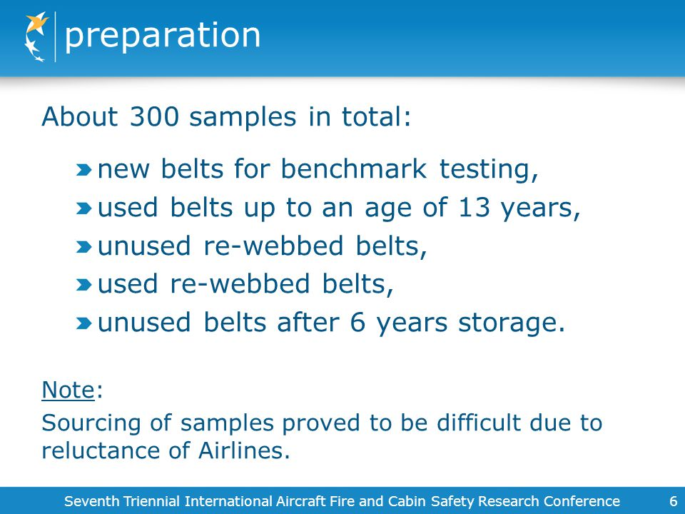 preparation About 300 samples in total: