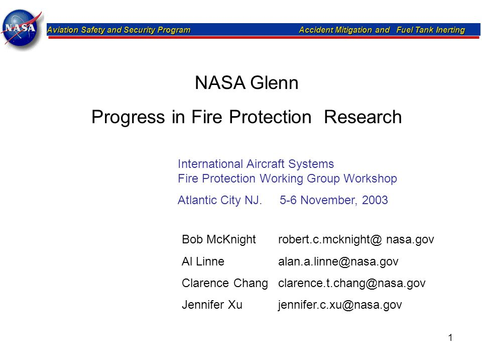 Progress in Fire Protection Research