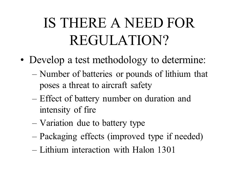 IS THERE A NEED FOR REGULATION