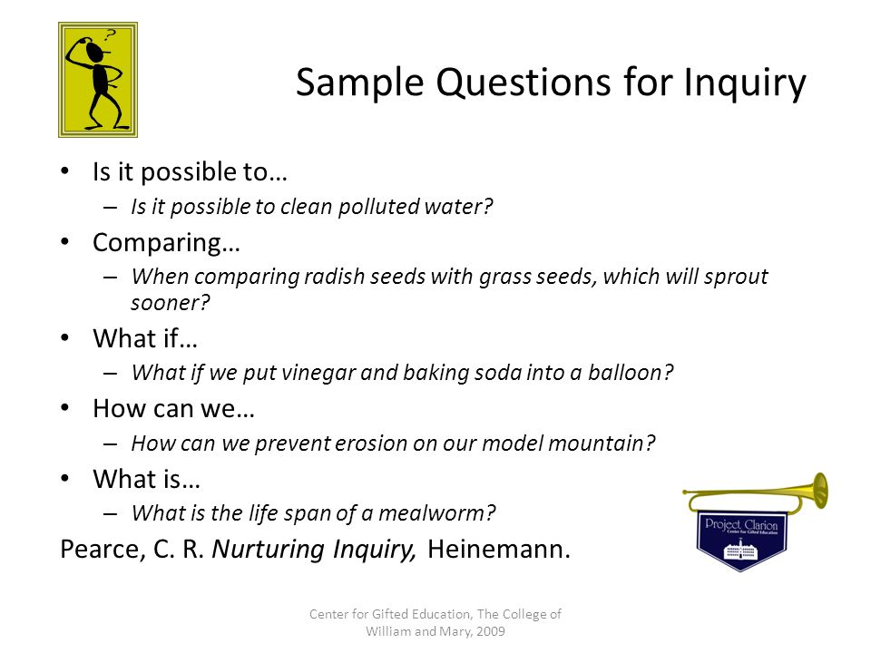 Sample Questions for Inquiry