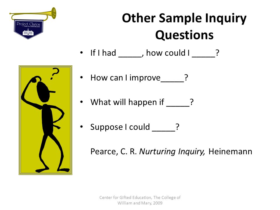 Other Sample Inquiry Questions