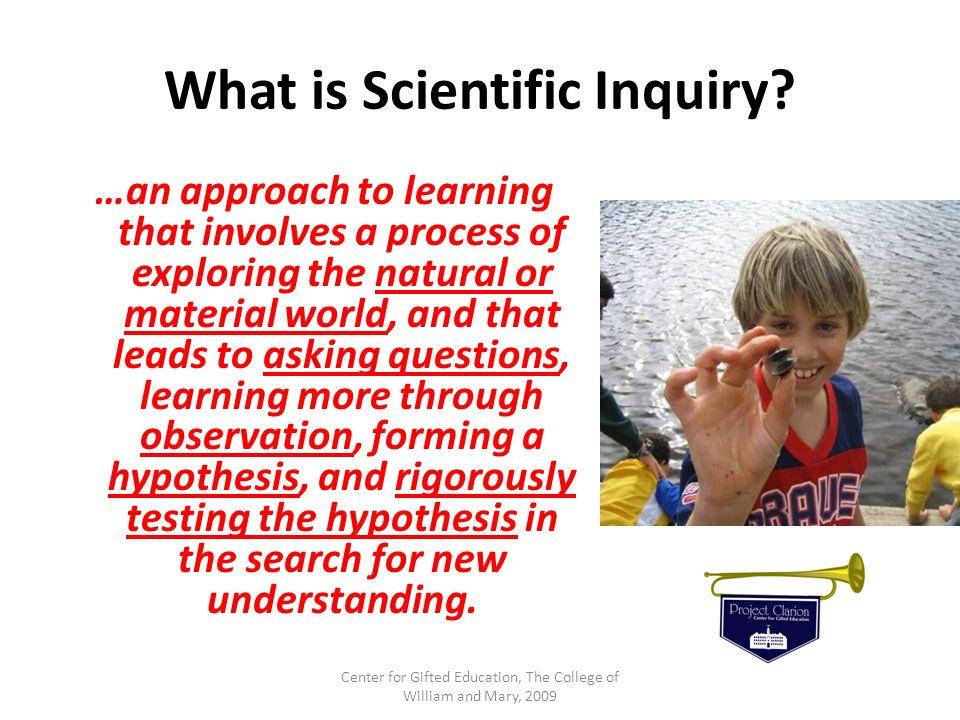 What is Scientific Inquiry