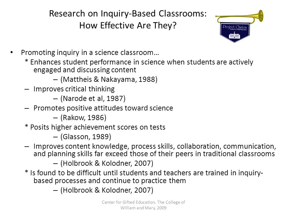 Research on Inquiry-Based Classrooms: How Effective Are They