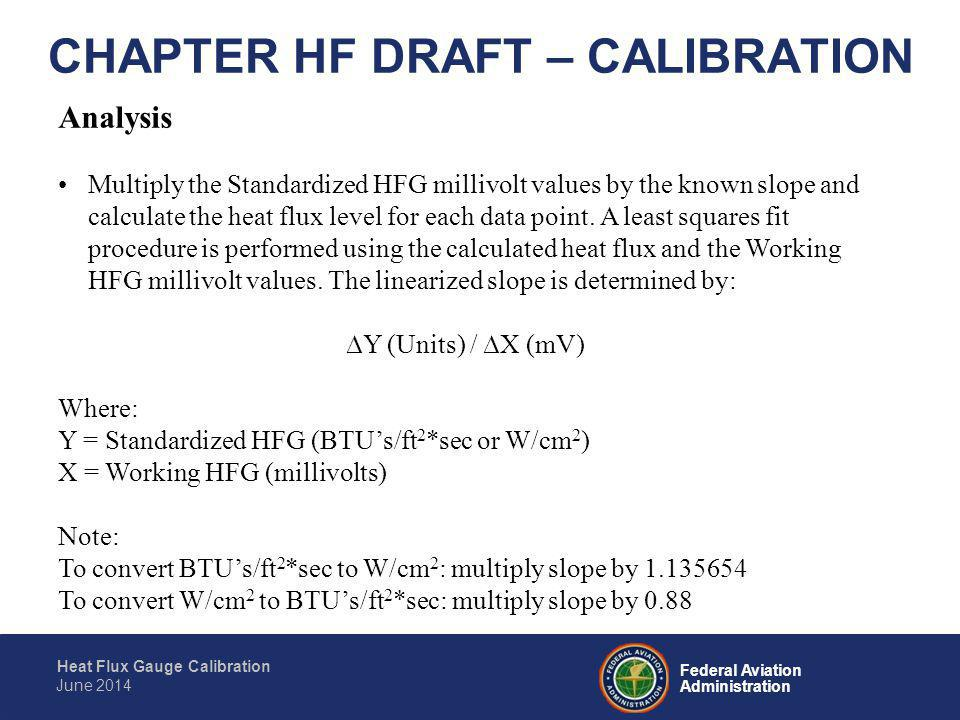 CHAPTER HF DRAFT – CALIBRATION
