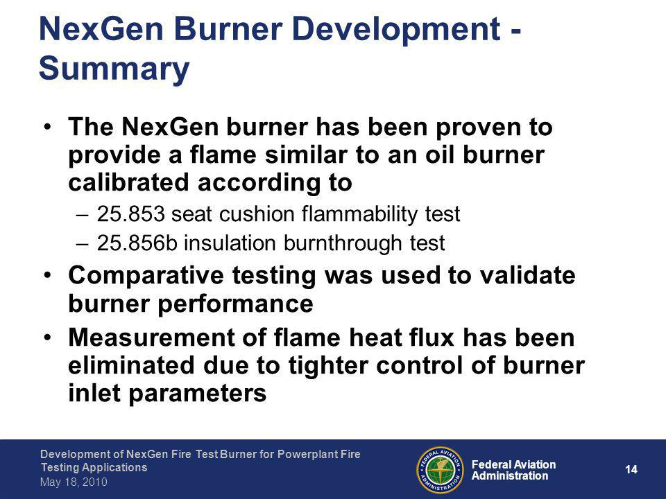 NexGen Burner Development - Summary