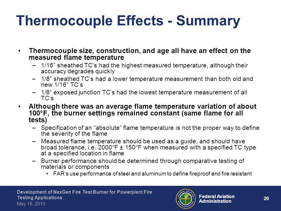 Thermocouple Effects - Summary