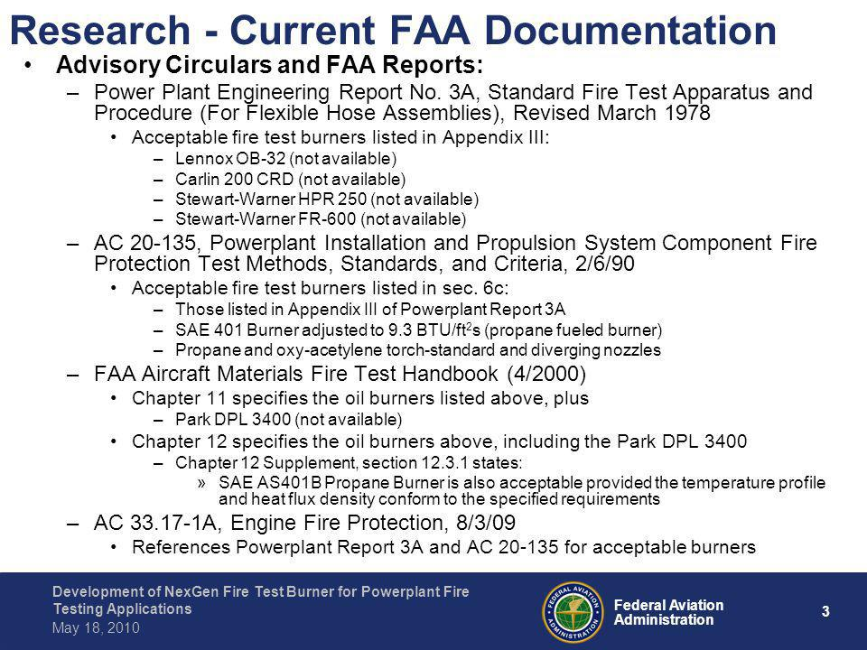 Research - Current FAA Documentation