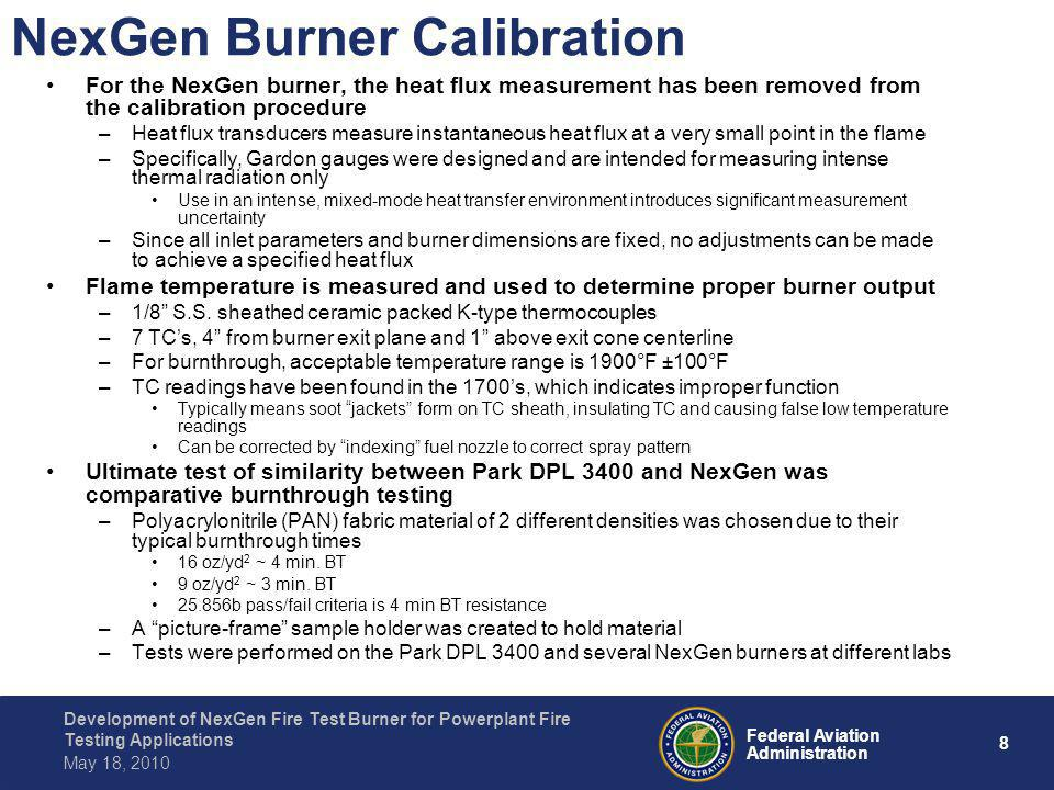NexGen Burner Calibration