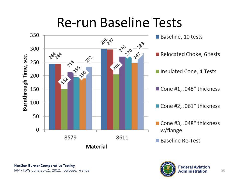 Re-run Baseline Tests