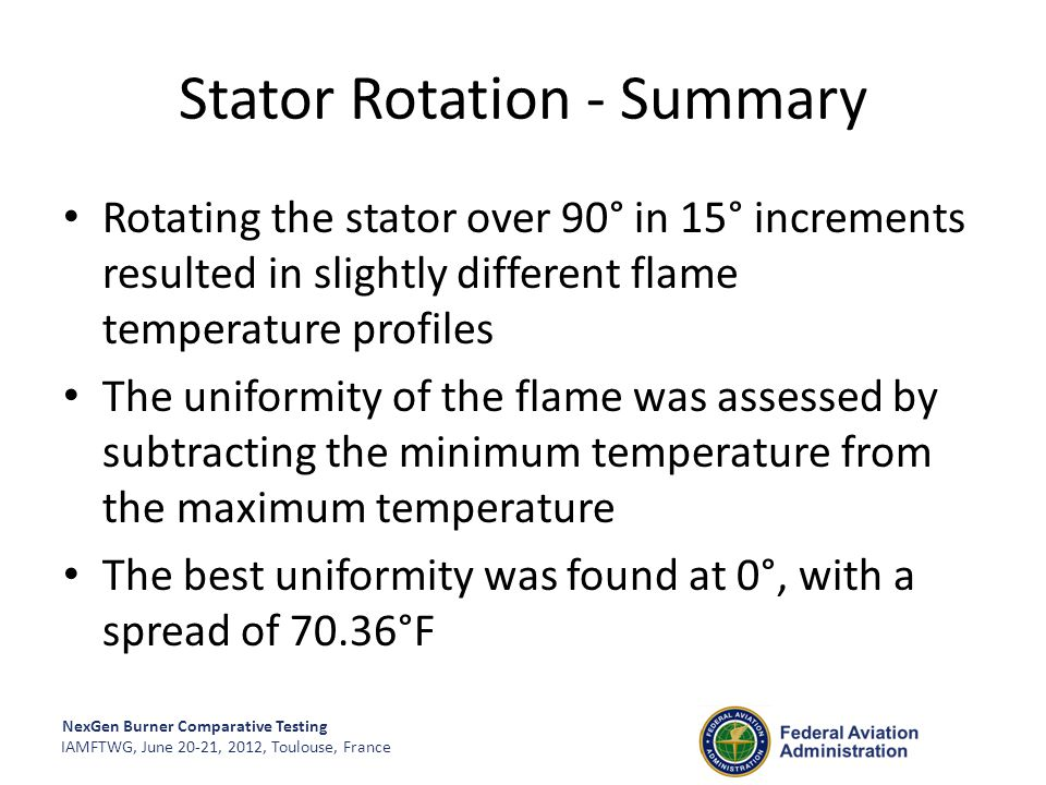 Stator Rotation - Summary