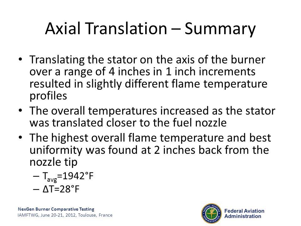 Axial Translation – Summary