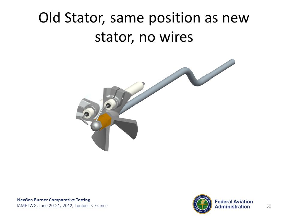 Old Stator, same position as new stator, no wires