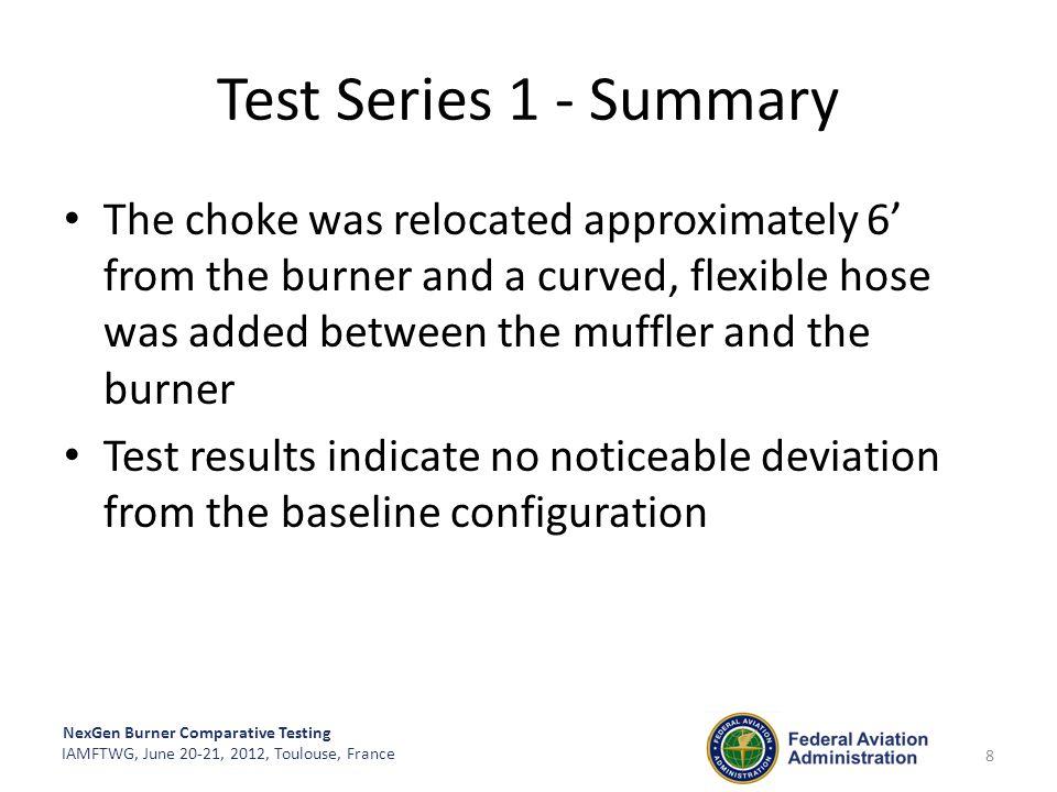 Test Series 1 - Summary
