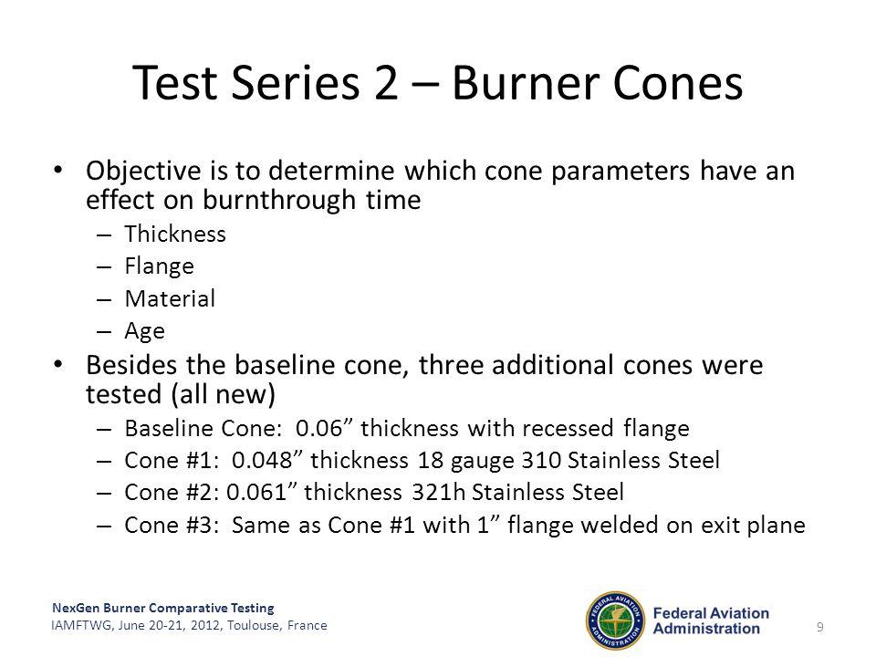 Test Series 2 – Burner Cones