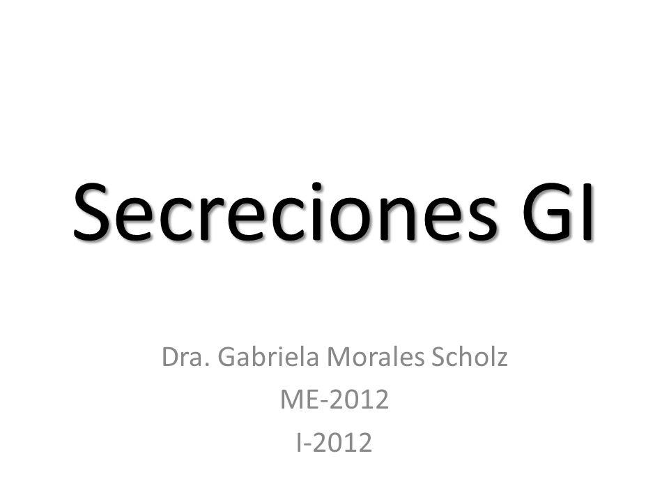 Dra. Gabriela Morales Scholz ME-2012 I-2012