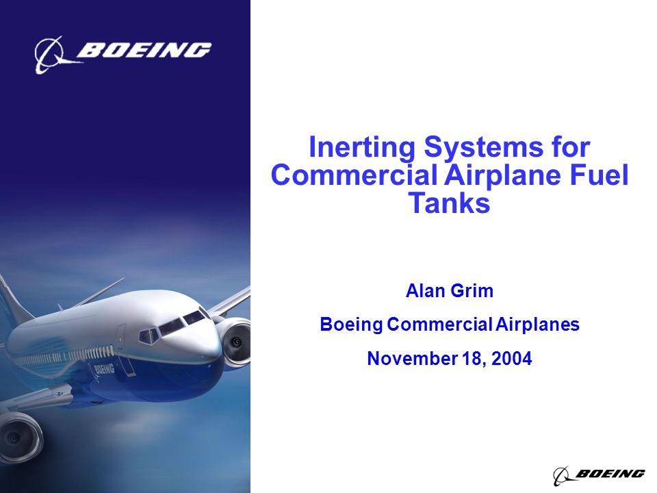 Inerting Systems for Commercial Airplane Fuel Tanks