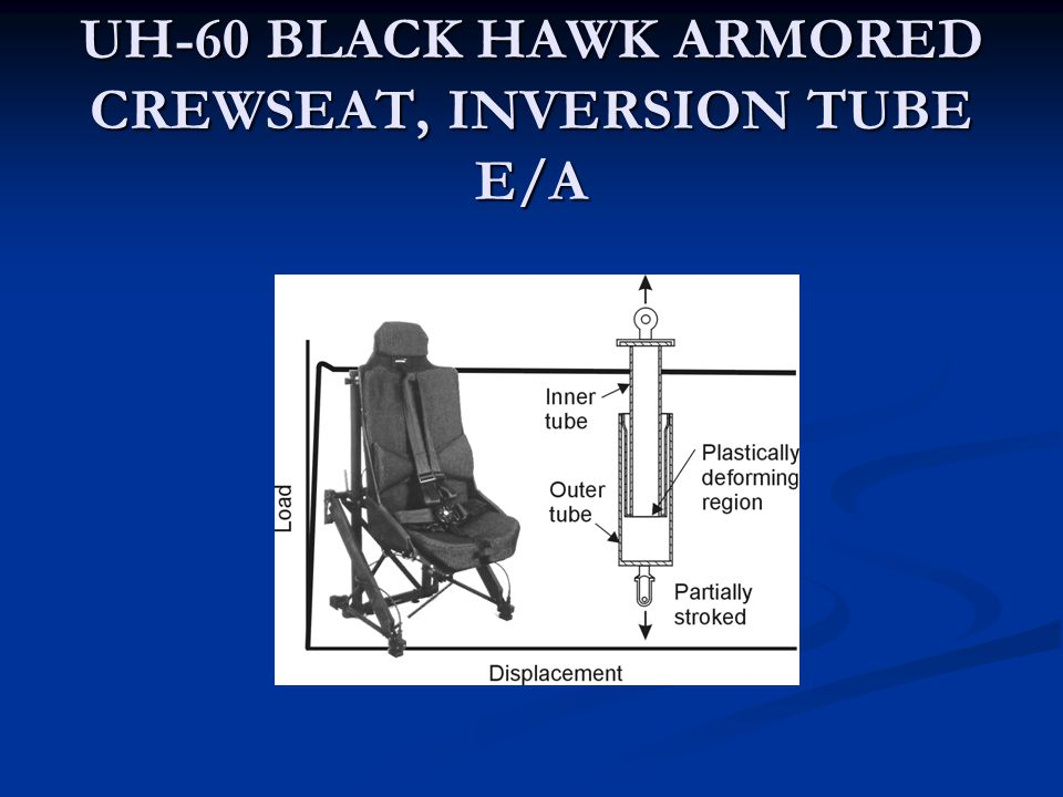 UH-60 BLACK HAWK ARMORED CREWSEAT, INVERSION TUBE E/A