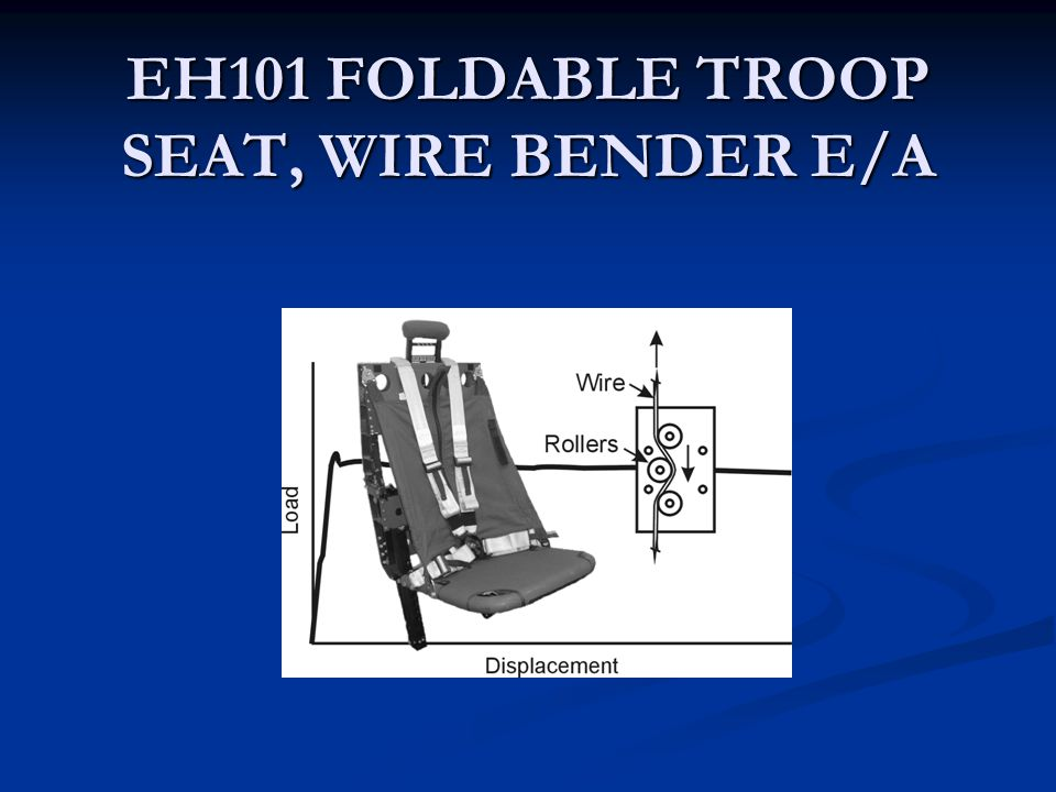 EH101 FOLDABLE TROOP SEAT, WIRE BENDER E/A