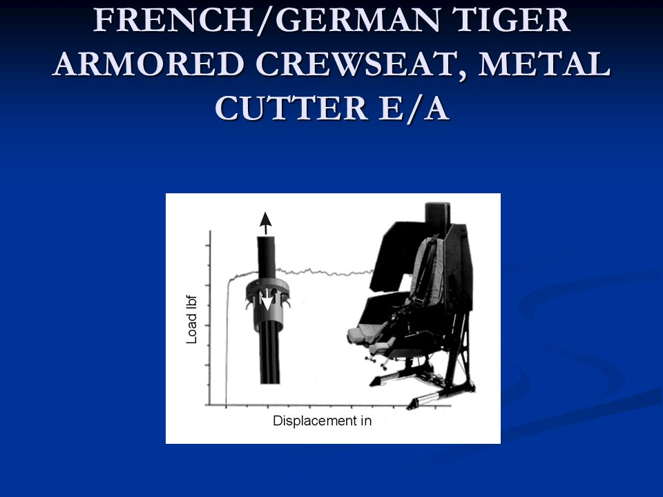 FRENCH/GERMAN TIGER ARMORED CREWSEAT, METAL CUTTER E/A