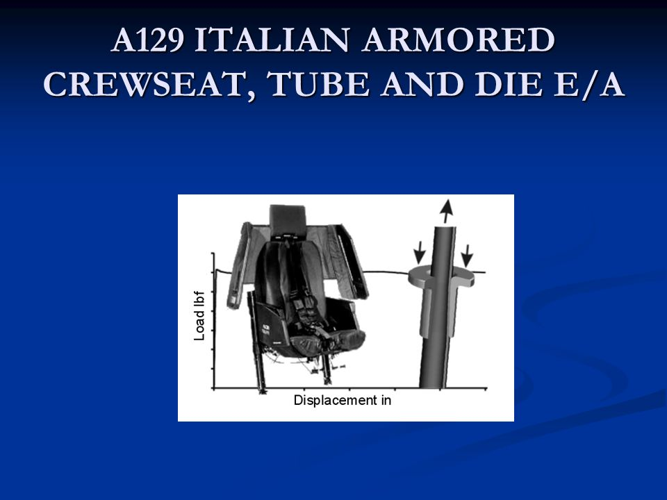 A129 ITALIAN ARMORED CREWSEAT, TUBE AND DIE E/A