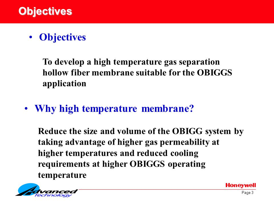 Why high temperature membrane