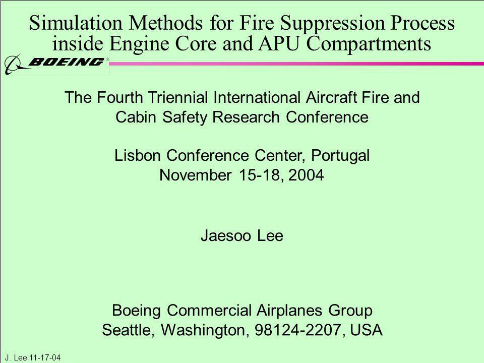 Simulation Methods for Fire Suppression Process