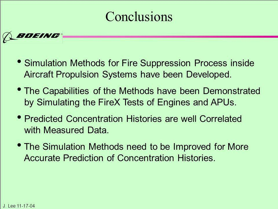 Conclusions Simulation Methods for Fire Suppression Process inside