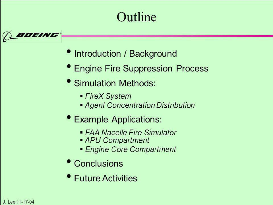 Outline Introduction / Background Engine Fire Suppression Process