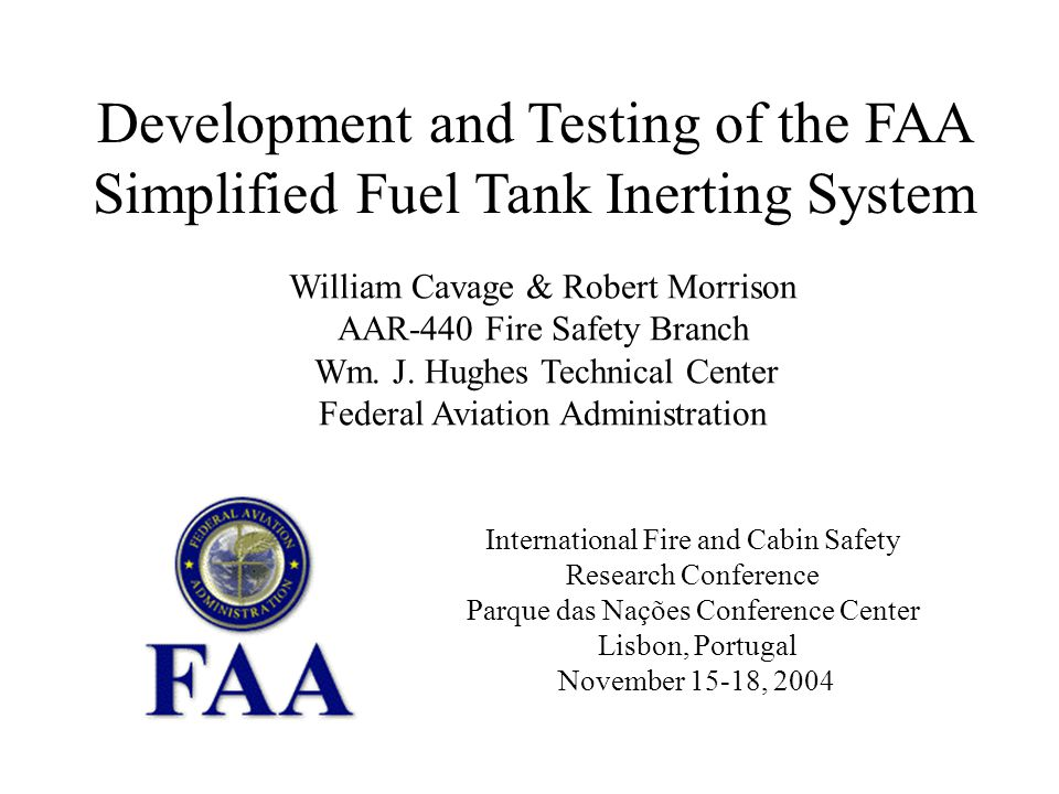 Development and Testing of the FAA Simplified Fuel Tank Inerting System