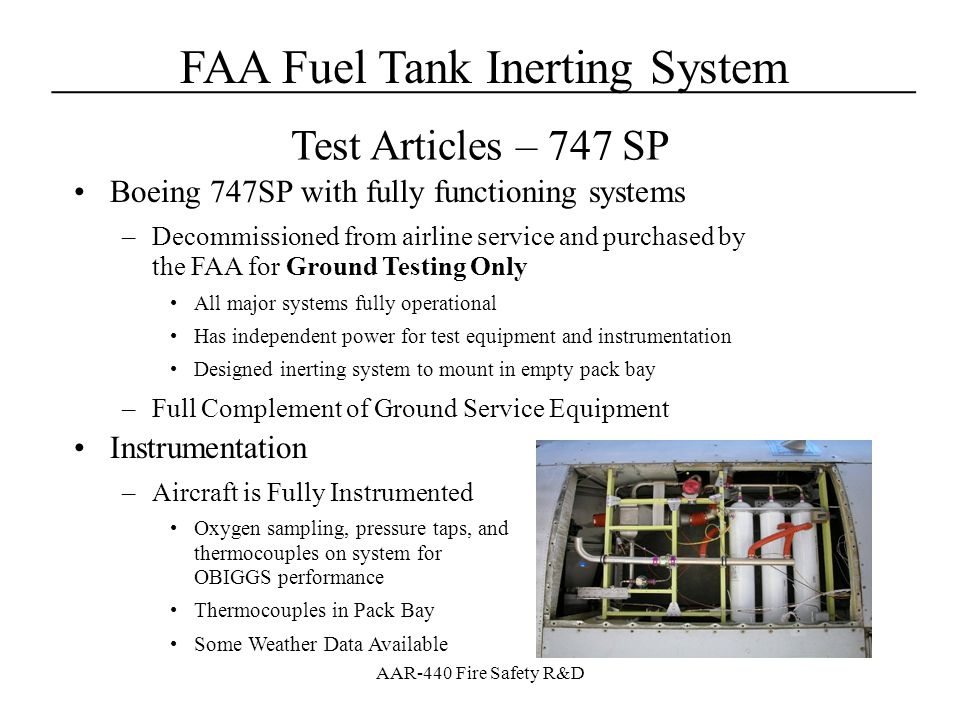Test Articles – 747 SP Boeing 747SP with fully functioning systems