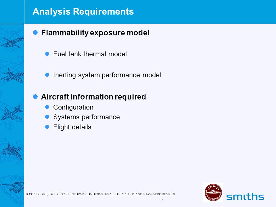 Analysis Requirements
