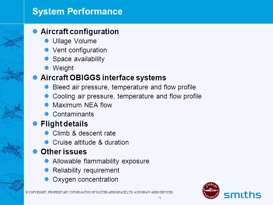 System Performance Aircraft configuration