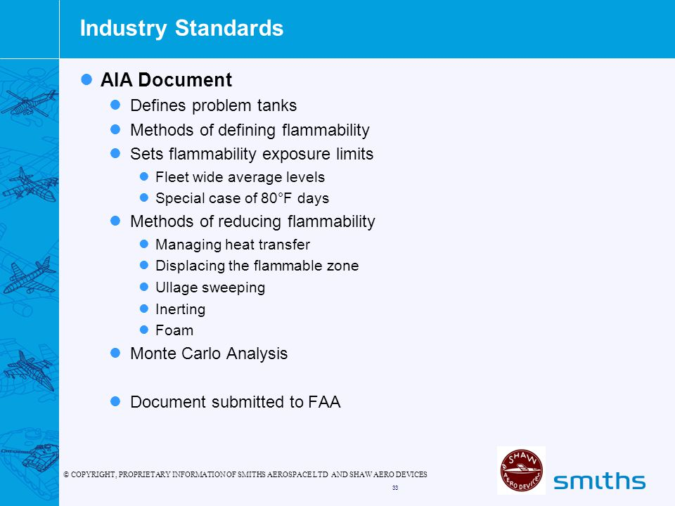 Industry Standards AIA Document Defines problem tanks