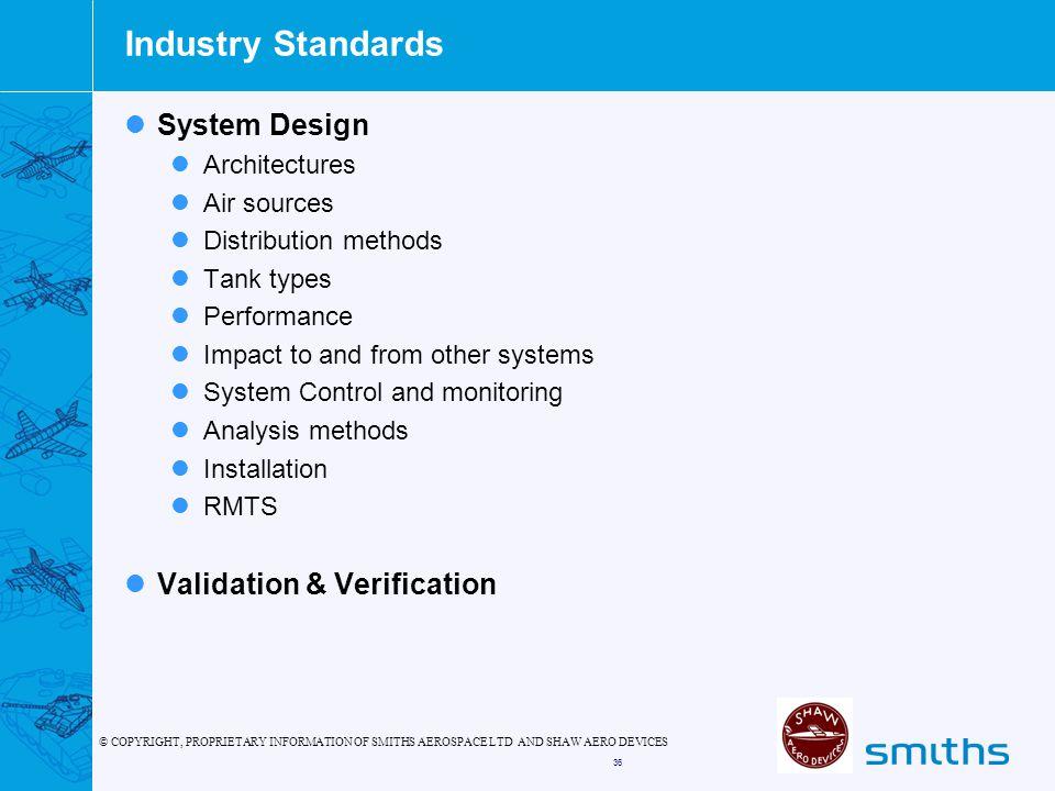 Industry Standards System Design Validation & Verification